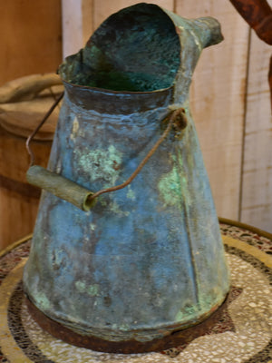 Antique French wine pouring can
