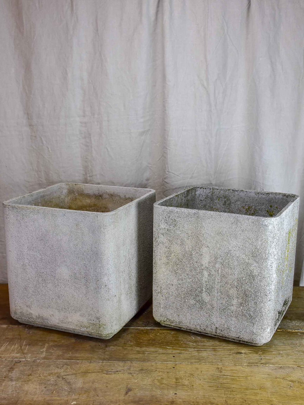 Pair of large square Willy Guhl garden planters