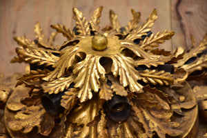 One Maison Charles flush mount ceiling light with gold leaves