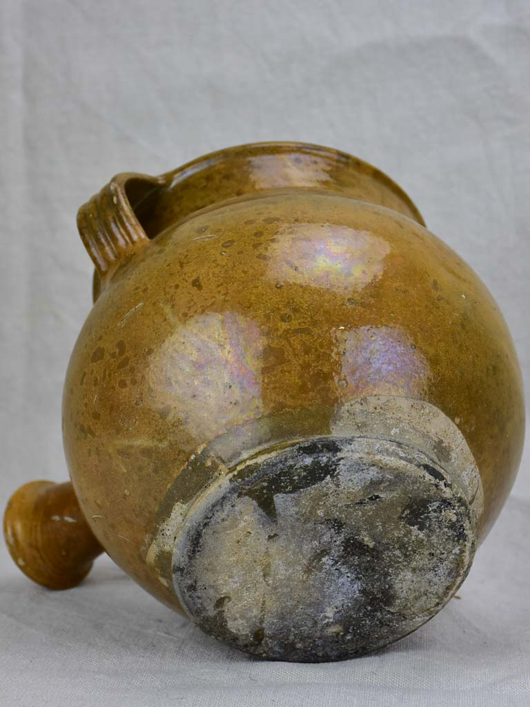 Antique French pot with spout