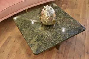 Vintage square coffee table - granite