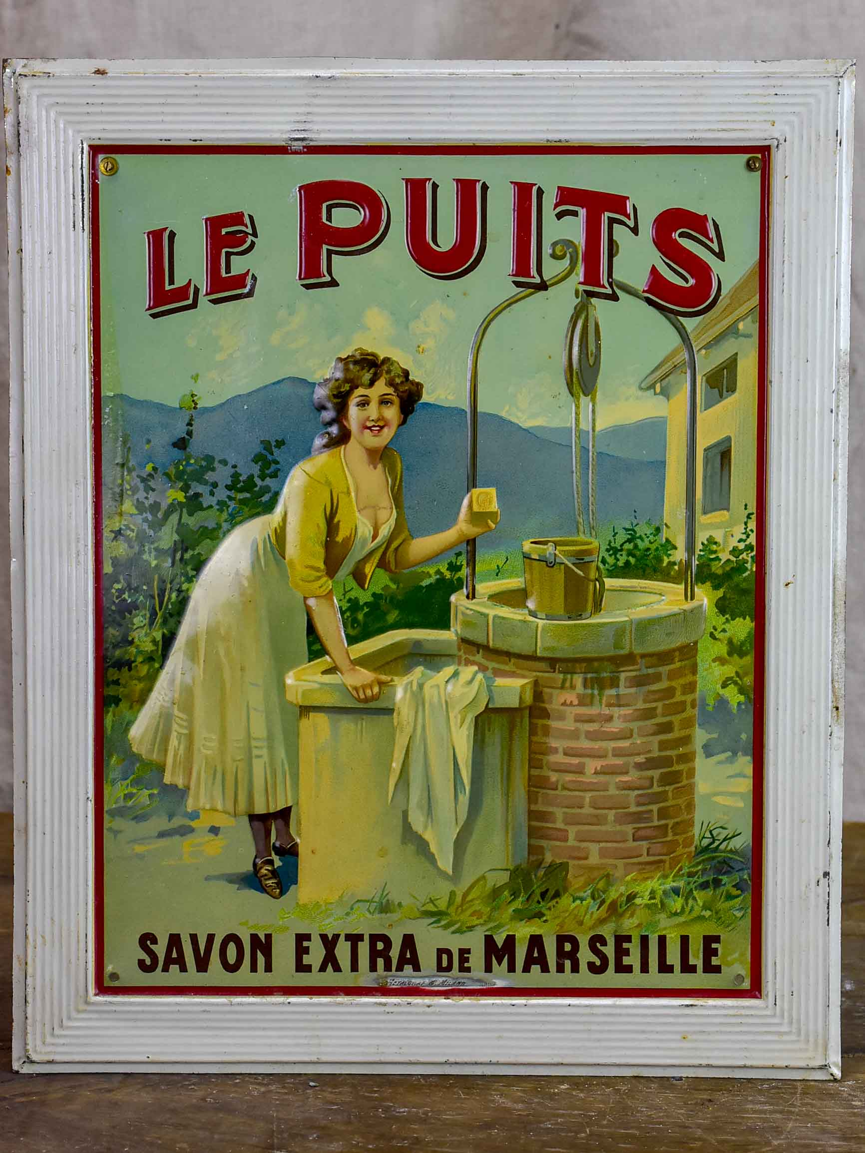 Antique French sign - Le Puits Savon Marseille
