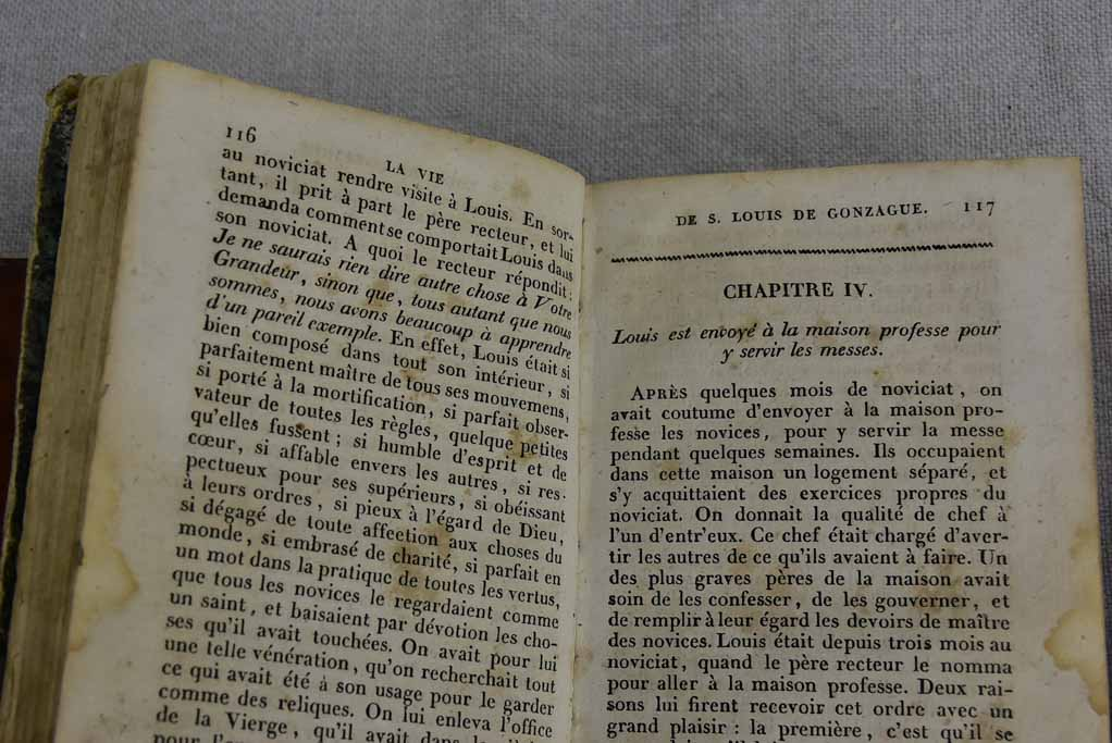 Collection of three antique French books