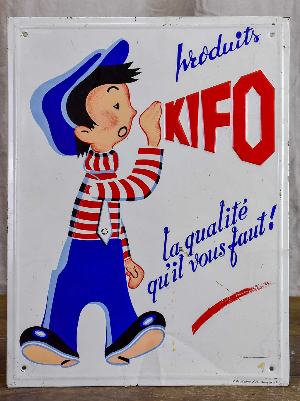 Antique French sign 'Produits Kifo'
