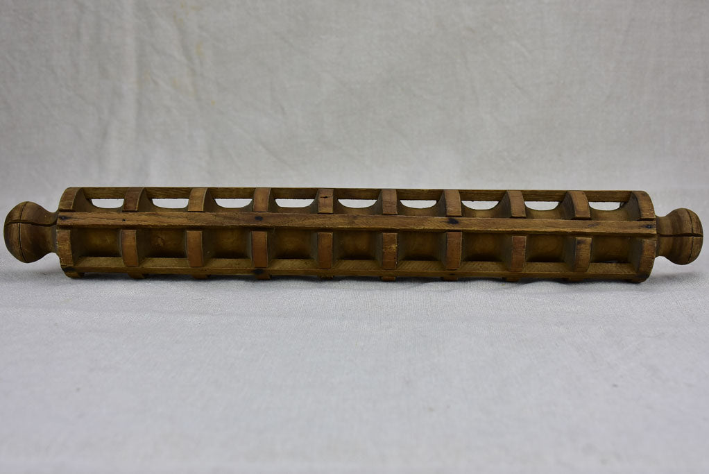 Antique French ravioli cutter / rolling pin