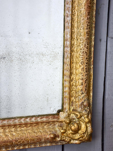 Antique French mirror with original glass