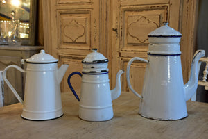French enamel cafetieres
