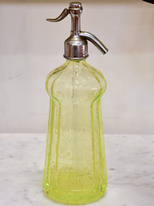 Antique French Seltzer bottle - uranium glass
