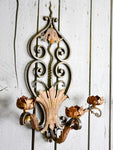 Three vintage French wall sconces