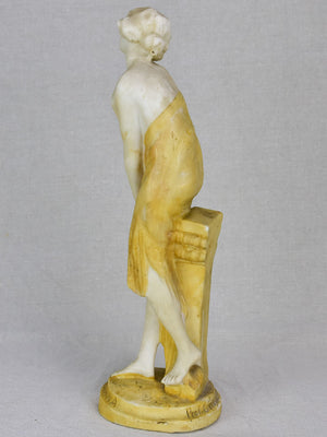 Small antique marble sculpture of a draped lady 14½""