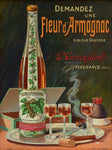 "Early 20th Cenutry Arrmagnac poster - Fleur d'armagnac 15¾"" x 20"""