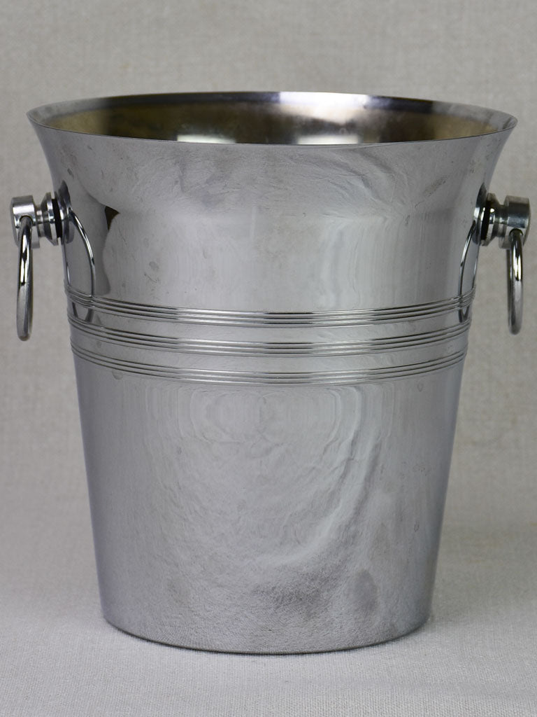 Vintage French champagne ice bucket with loop handles