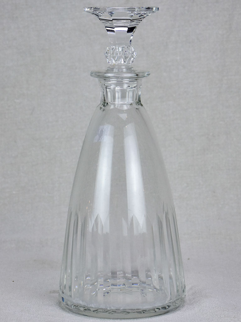 Antique French liqueur decanter with original stopper