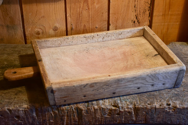 Antique French cutting board inset in a box