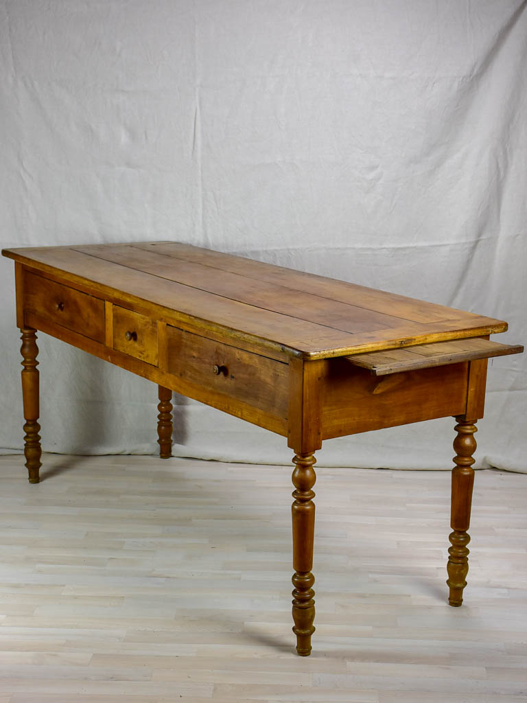 "Antique French serving table with three drawers and pullouts 26½"" x  70¾"""