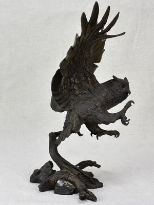 19th Century sculpture of an owl