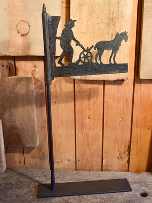 Antique French weathervane with country scene