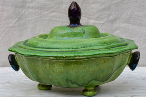 Rustic early 20th Century Dieulefit tureen with lid