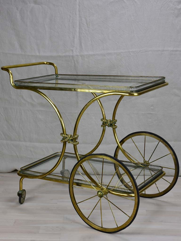 Elegant 1930's French bar cart