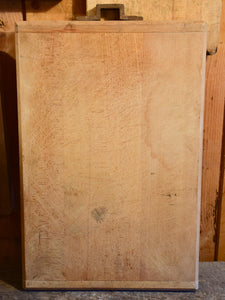 Very large vintage French cutting board with iron handle