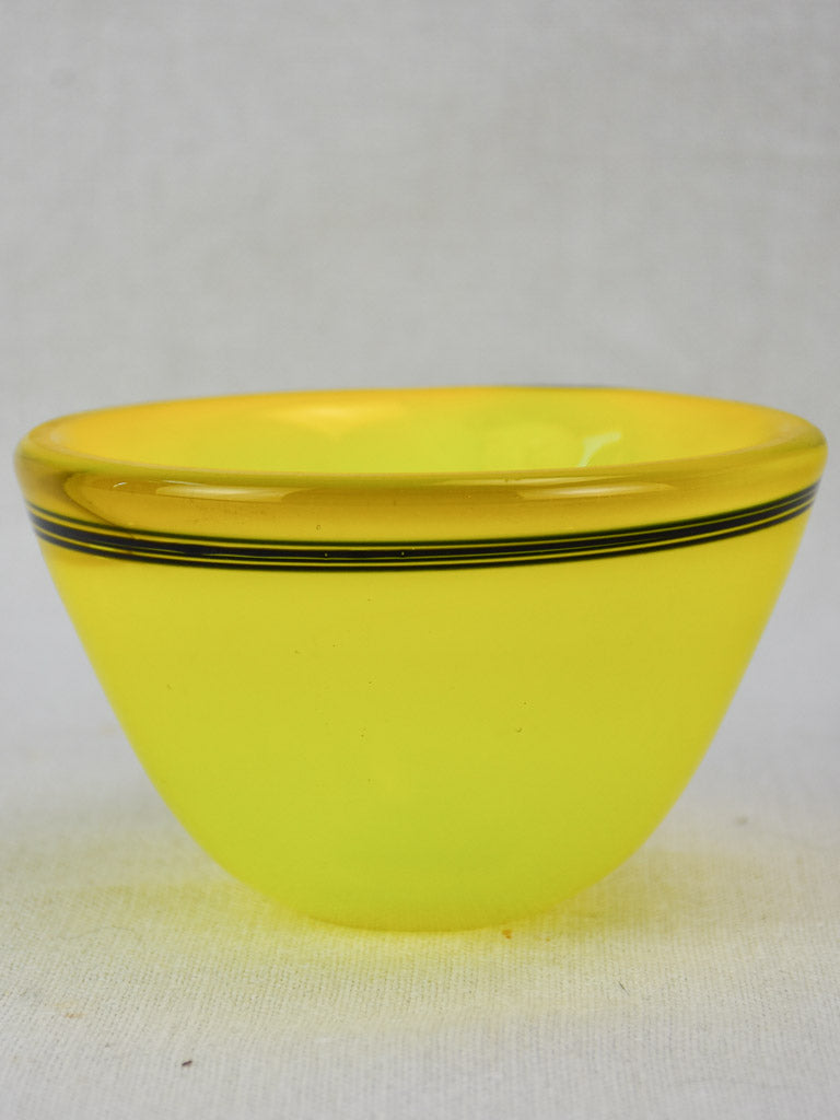 Four piece yellow glass service from the 1950's