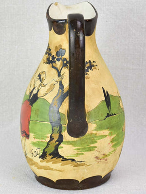 Early twentieth-century stoneware liquor service from the Basque country
