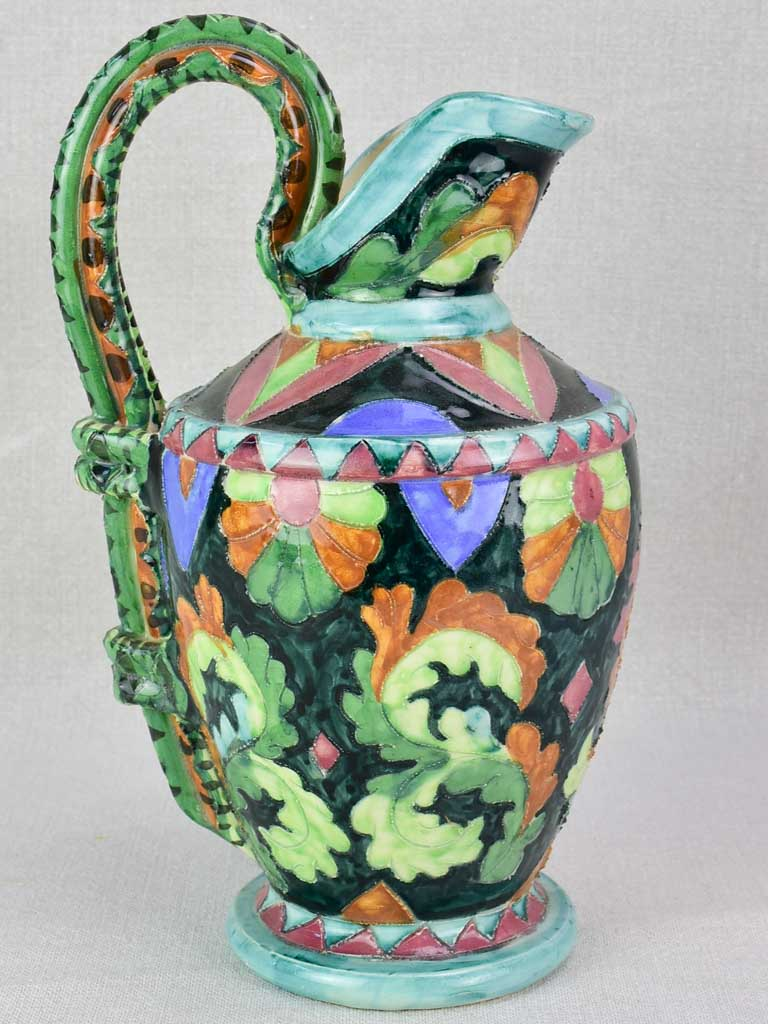 1940's ceramic pitcher from Cannes