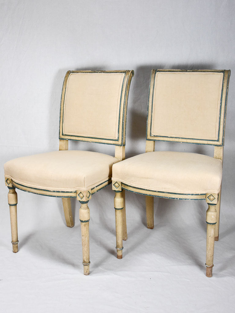 Pair of early twentieth-century Directoire style chairs