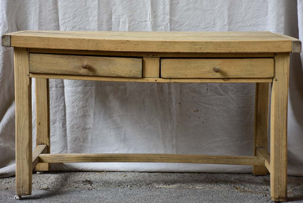 "Antique French butchers table with two drawers 50¾"" x 27½"""