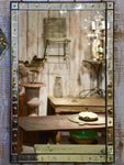 Large antique rectangular Venetian mirror