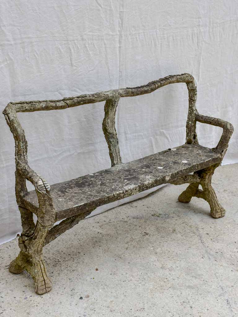 Faux bois garden bench - early 20th Century