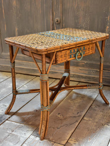 1930's French winter garden rattan table