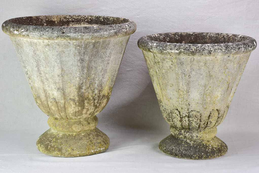 Two early twentieth century French garden planters - tulip shaped