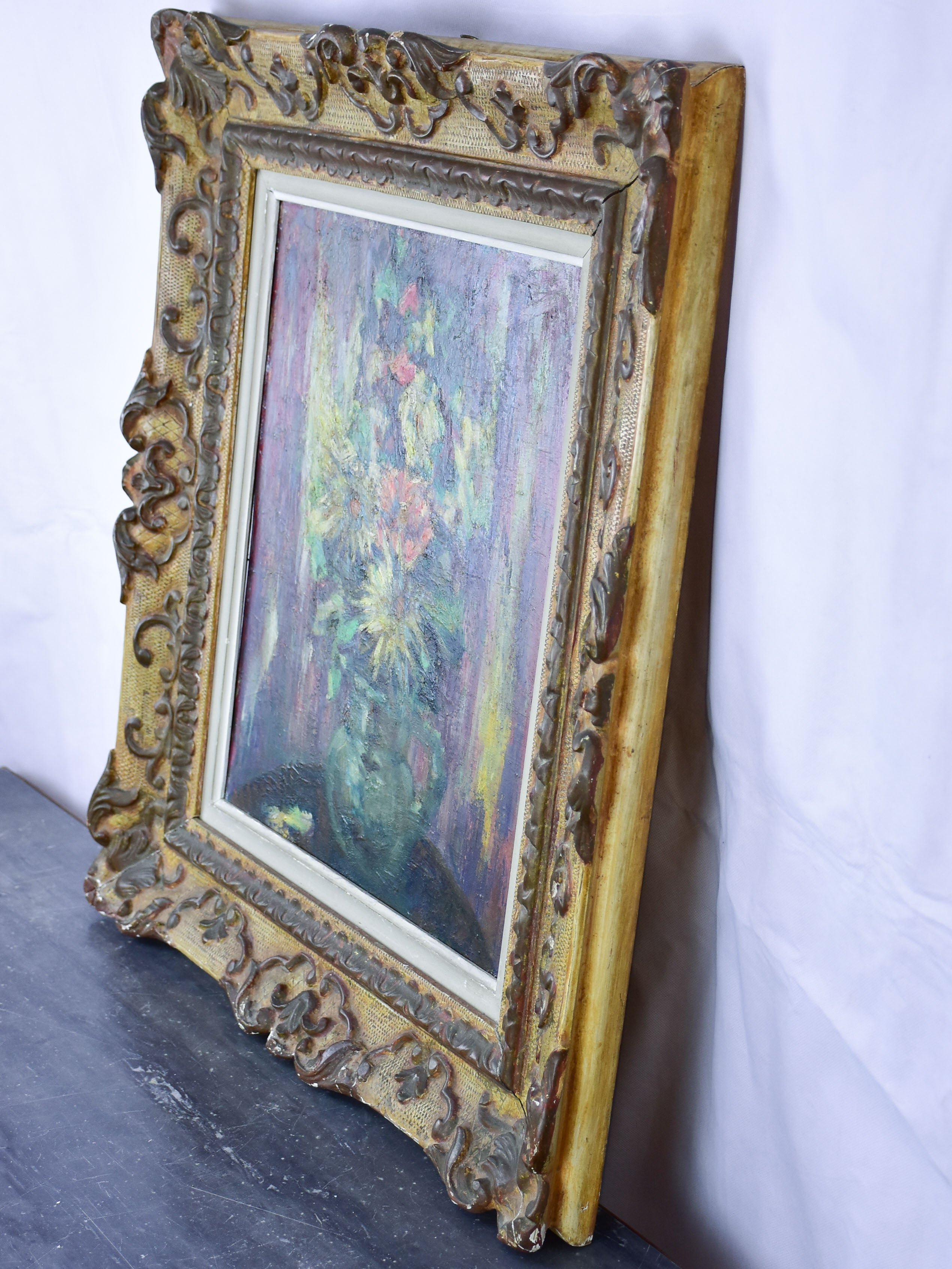 "Antique French painting of a bouquet by Ludwig Klimek (1912-1992) 24"" x 27 ¼''"