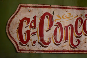 Vintage French sign from a theme park