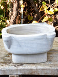 Antique Italian white marble baptismal font