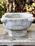 Antique Italian grey marble baptismal font