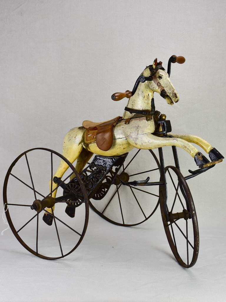 Nineteenth-century French toy horse tricycle
