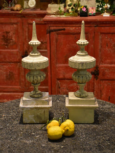 Pair of antique French finials
