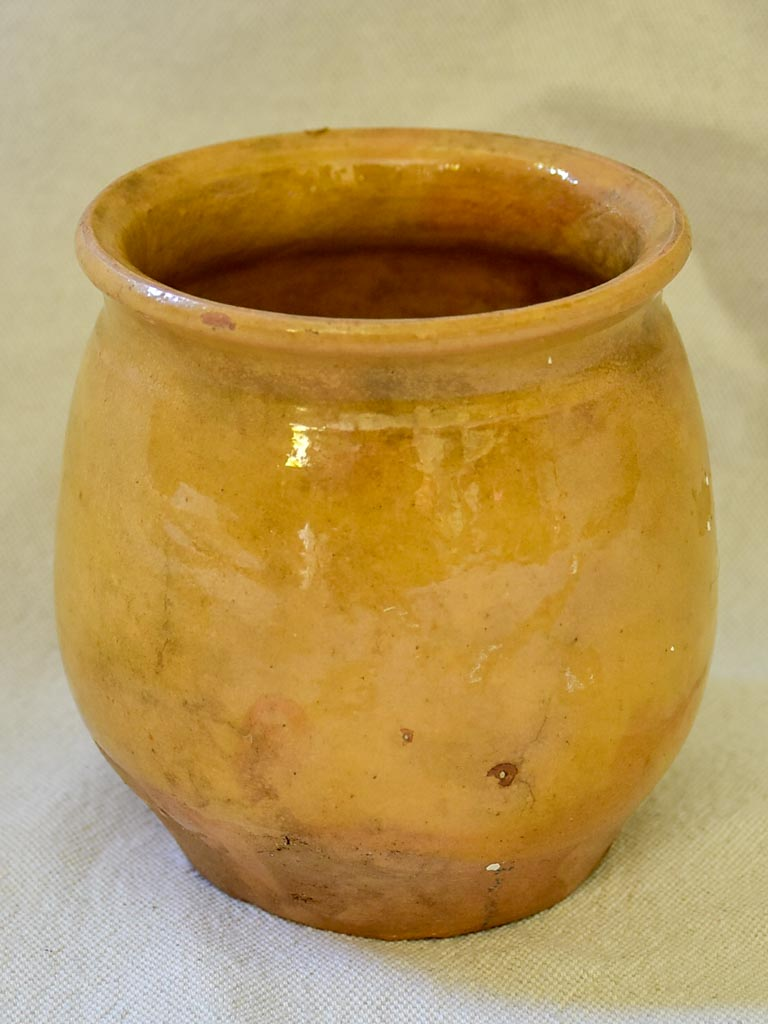 Small antique French confit pot 4¼""