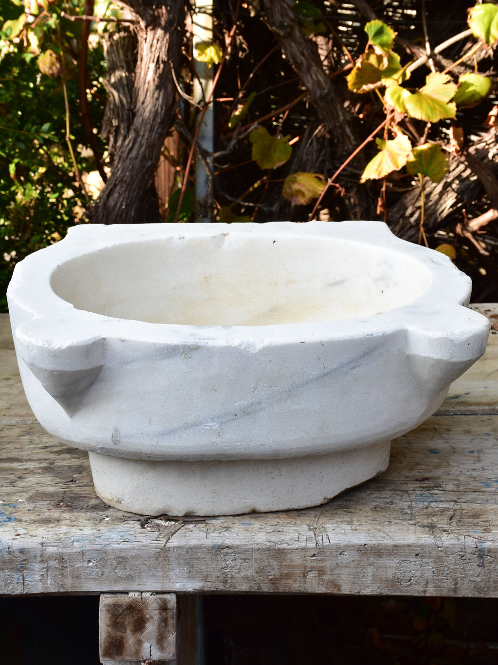Antique Italian marble baptismal font - large