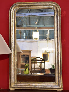 French Louis Philippe mirror with silver frame – narrow