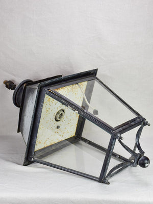 Very large vintage French lantern with black patina 39¾""