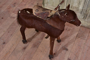 Antique French toy horse with moving mechanism