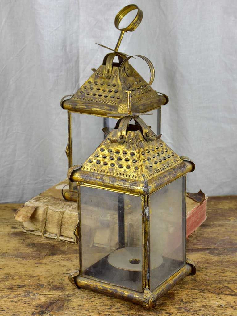 Pair of antique French lanterns