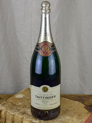 Vintage Taittinger magnum - advertising decoration