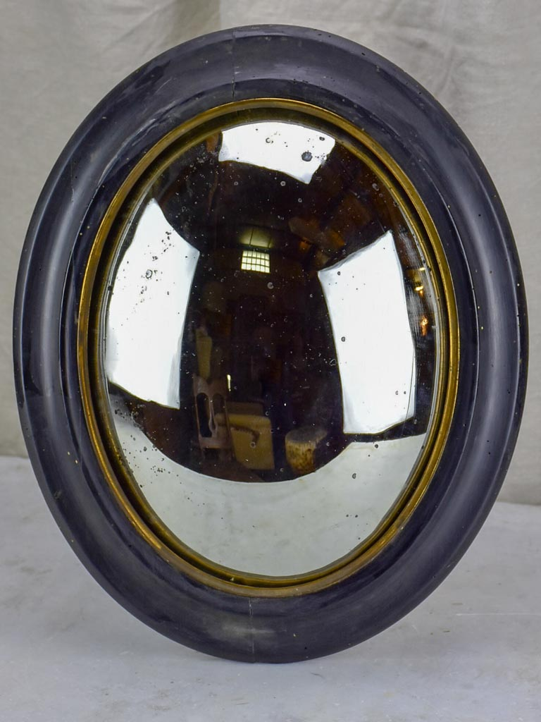 Napoleon III oval mirror with convex glass