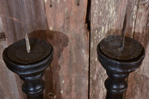 Very tall antique church candlesticks