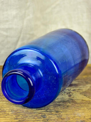 Antique blue French apothecary glass jar