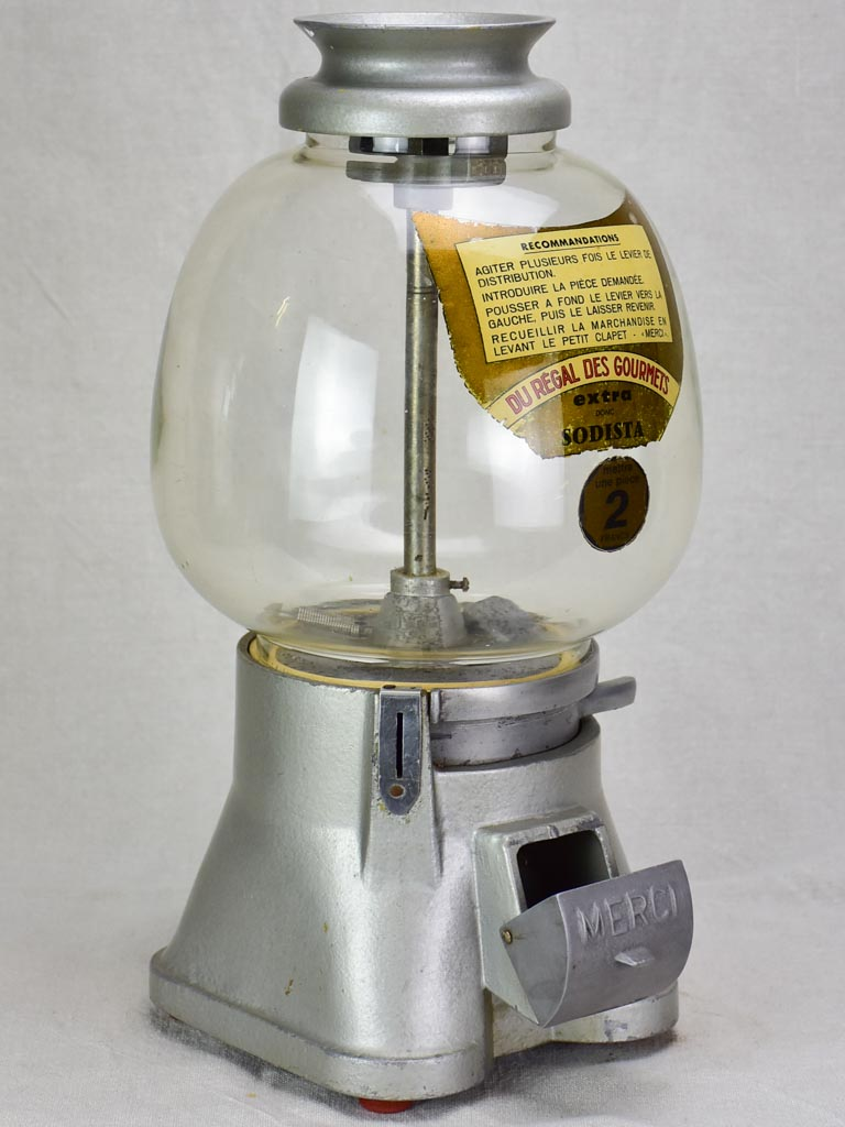 Antique French gumball dispenser